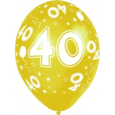 Ballonnen 40 jaar 5 stuks