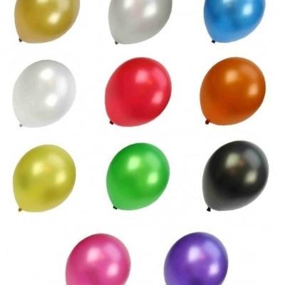 Foto van Kwaliteitsballon metallic assortie kleur per 50 ( 30 cm)