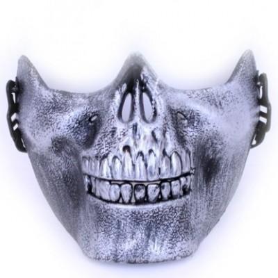 Foto van Skull Onderkaak Halfmasker - Zilver