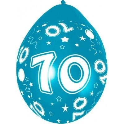 Ballonnen 70 jaar 5 stuks