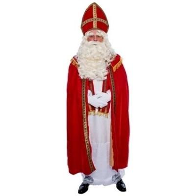 Foto van Sinterklaas kostuum polyesterfluweel