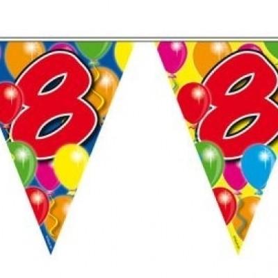 Foto van Vlaggenlijn balloons 8 jaar 10m/stk