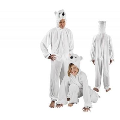 Onesie ijsbeer volwassenen