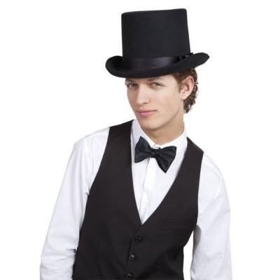 Foto van Hoed Byron zwart Hoge hoed (zware kwaliteit)