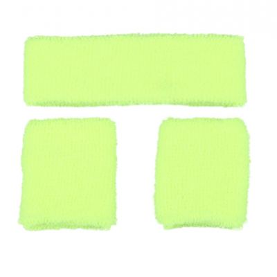 Foto van Neon zweetband hoofd en pols geel