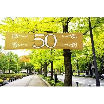 Foto van Banier 50 Jubileum 180x40cm