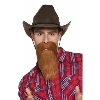 Foto van snor en baard Cowboy