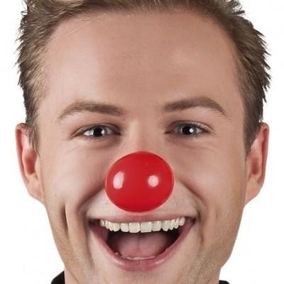 Foto van Set 6 Clownsneuzen plastic
