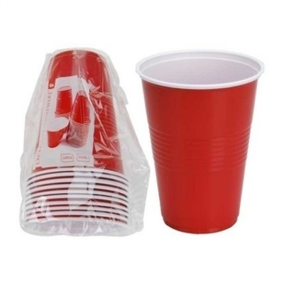 Foto van Red cups 480 ml (8 st.)