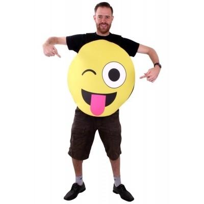 Foto van Emoticon Knipoog tong kostuum