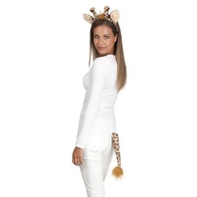 Foto van Set Giraffe (tiara en staart)