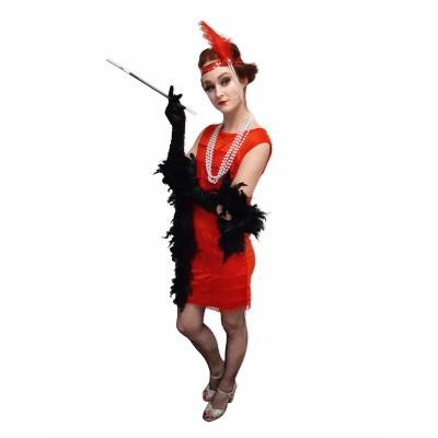 Foto van Jaren 20 jurkje rood