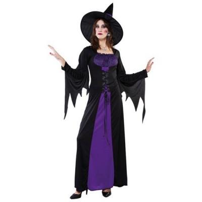 Foto van Lange heksen jurk - paars