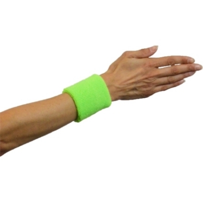 Zweet polsbandjes neon groen