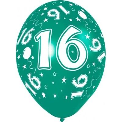 Ballonnen 16 jaar 5 stuks