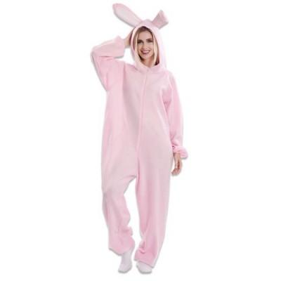 Foto van Fortnite kostuum - Rabbit Raider (roze konijn)