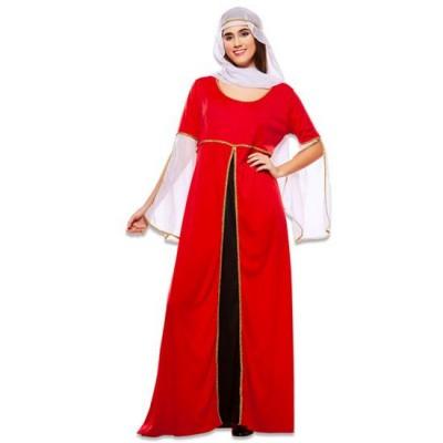 Foto van Middeleeuwse rode jurk