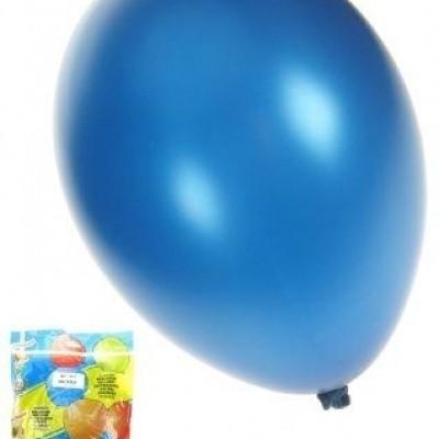 Kwaliteitsballon metallic blauw per 50 (Ø 14 inch / 36 cm)