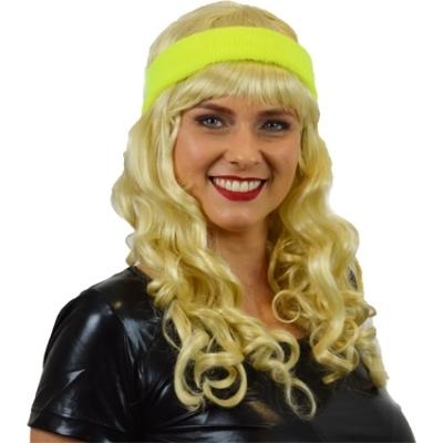 Foto van Zweet hoofdband neon geel