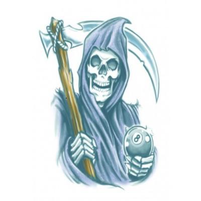 Foto van Biker Tattoo Grim Reaper