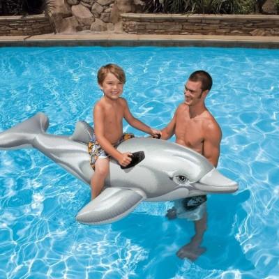 Foto van Opblaas dolfijn