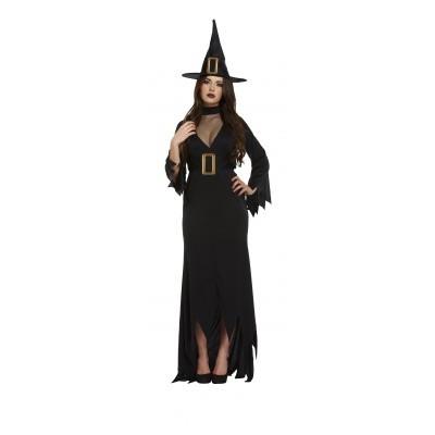 Foto van Heks lange jurk zwart Plus size