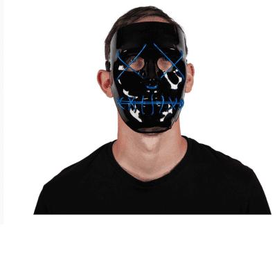 Foto van Lichtgevend masker blauw