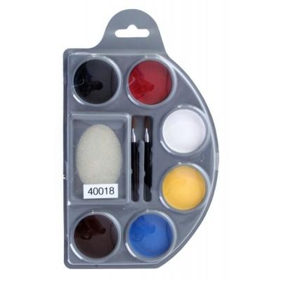 Foto van Schmink set 6 kleuren op waterbasis