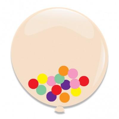 Foto van Ballonnen Assorti Confetti 3st 60cm
