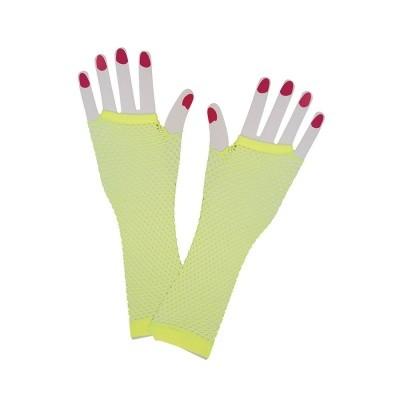 Foto van Net handschoenen neon geel