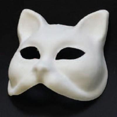 Foto van Venetiaans masker Gatto grezzo wit