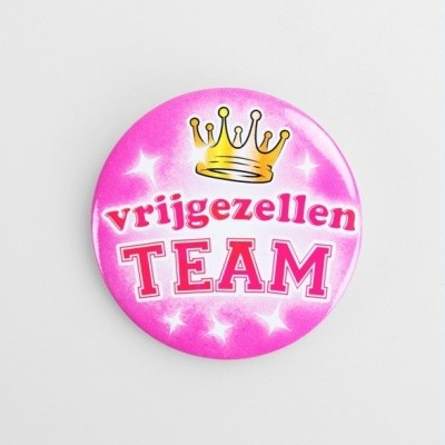 Foto van Button Vrijgezellen Team dames
