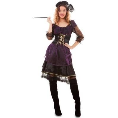 Foto van Jaren 20 jurkje saloon stijl paars