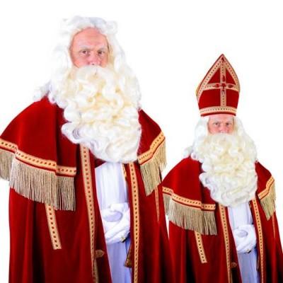 Foto van Sinterklaas baard Madrid kanekalon vaste snor 34.130