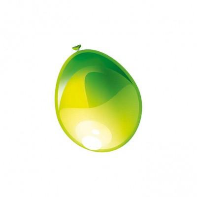Ballonnen Metallic Appel Groen 50st