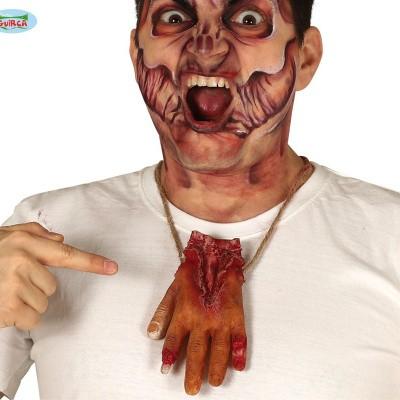 Foto van Ketting met bloederige hand