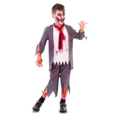 Foto van Zombie schooljongen - kind