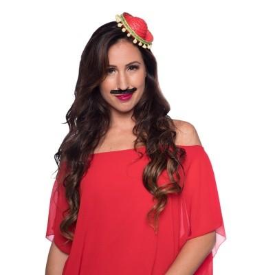 Foto van Tiara sombrero rood