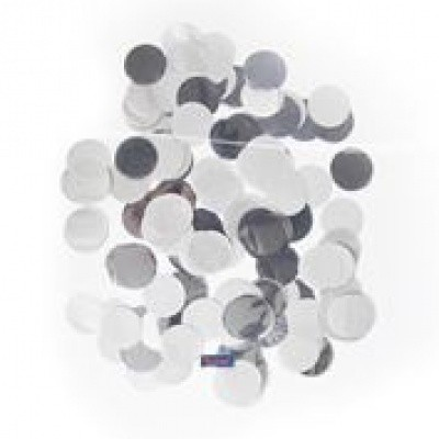 Foto van Confetti groot rond zilver