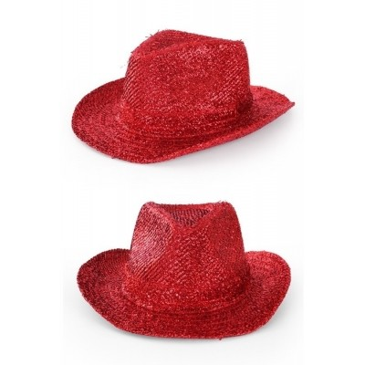 Foto van Cowboyhoed glitter rood