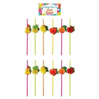 Foto van Fruit rietjes 12 stuks
