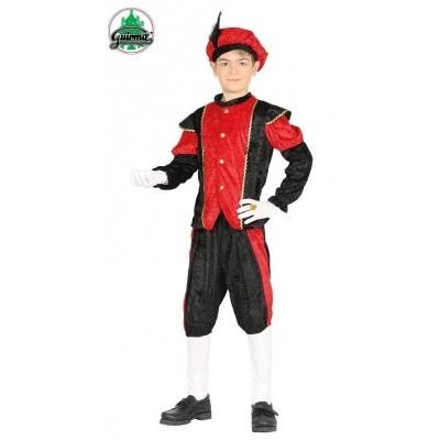 Zwarte pietenpak rood kind