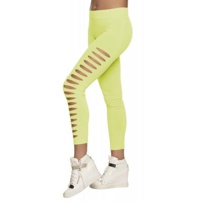 Foto van Neon legging groen met gaten