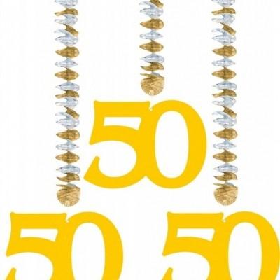 Hangdecoratie 50 Goud/3
