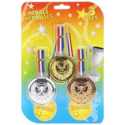 Foto van Medailles goud, zilver en brons