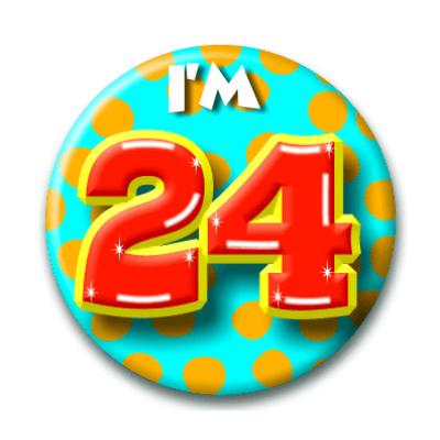 Foto van Button 24 jaar