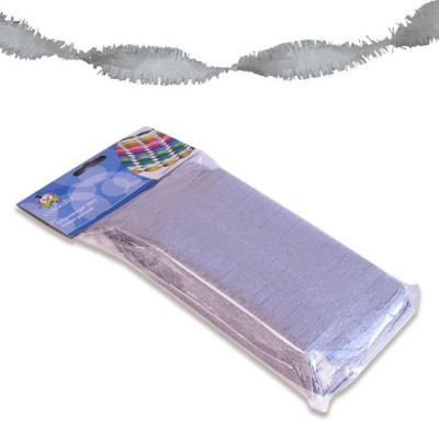 Foto van Crepe papier slinger zilver 6 m