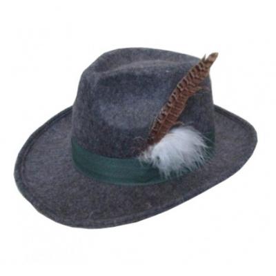Foto van Tiroler hoed grijs luxe