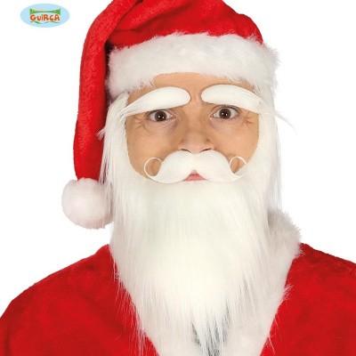 Foto van Kerstman baard snor en wenkbrauwen