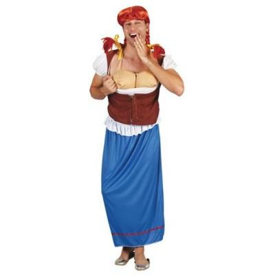 Foto van Travestiet kostuum - Boerin
